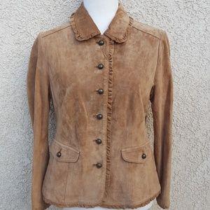 J. Jill leather suede jacket